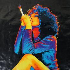 Stoner Chick Poster / Black Light / Psychedelic / 1970s