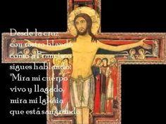 (Semanas I y II de Pasión) Jesús glorioso en cruz clavado, con grandes ojos  y abiertos brazos miras al Padre y al mundo amado, Jesús eterno, crucificado