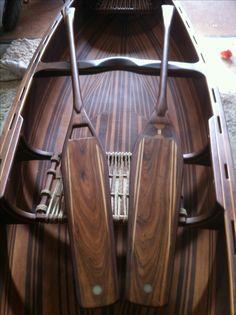 Prospector canoe by Dave Bateman Handcrafted, Cadiz, Spain Wood Canoe, Wooden Kayak, Wooden Paddle, Canoe Boat, Kayak Boats, Canoe And Kayak, Wooden Boats, Canoe Paddles, Lake Boats