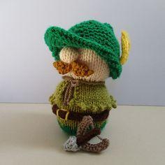 Robin Hood doll knitting pattern by Amanda Berry