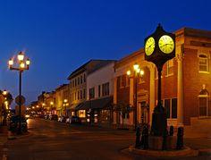 Historic Downtown Cape Girardeau Evening, via Flickr.