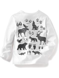 """Long-Sleeve """"Walk on the Wild Side"""" Graphic Tee Product Image"""
