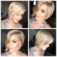 Summer Hair looks: 2014 Short Hairstyles Trends blonde short bob with casual waves