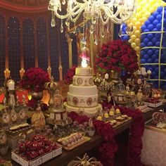 Quinceanera Party Planning – 5 Secrets For Having The Best Mexican Birthday Party Beauty And The Beast Wedding Theme, Beauty And Beast Birthday, Disney Beauty And The Beast, Wedding Beauty, Red Wedding, Quinceanera Decorations, Quinceanera Party, Quinceanera Planning, Quince Decorations
