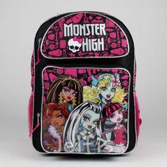 Jelfis.com - Monster High Backpack - School Accessories 16' Large Girls Book Bag Licensed, $18.99 (http://www.jelfis.com/monster-high-backpack-school-accessories-16-large-girls-book-bag-licensed/)