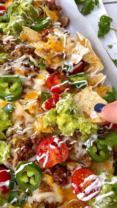 Lunch Recipes, Healthy Dinner Recipes, Mexican Food Recipes, Appetizer Recipes, Healthy Snacks, Cooking Recipes, Game Day Recipes, Nacho Recipes, Appetizers