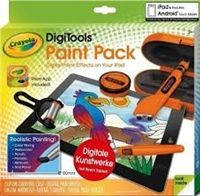 Crayola DigiTools Paint Pack.  A creative Accessory for your tablet!  Lets kids paint realistically with a digital airbrush, roller, stamper and paintbrush! Tablet not included.