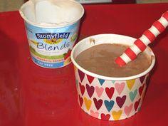 Frozen bananas, yogurt & cocoa makes a delish treat! (& Blendtec Giveaway)