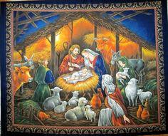FABRIC Keepsake Christmas Nativity Scene by Homeandcrafts on Etsy