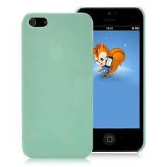 Fine Candy Color Plastic Hard Case  For Apple iPhone 5 - Green