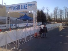 Finish line of the Jordan 5k - was buzzing an hour later as the event got going.