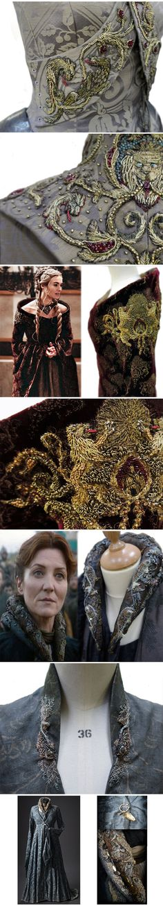 Mode, borduurwerk, kostuums cool-Game-Thrones-costumes-detail-Stark  http://themetapicture.com/game-of-thrones-costumes-detail/