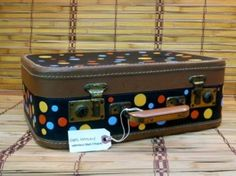 Cute as a button vintage hand painted suitcases « HAUTE NATURE