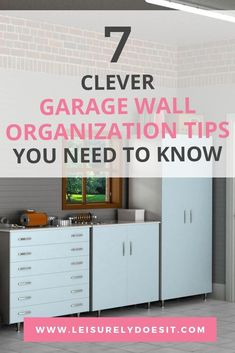 Garage wall organization ideas are great when you need space-saving storage solutions for your stuff. Whether you're planning to add DIY organizers for your tools or purchase a storage system, use these tips and tricks to make the most of this space. Garage Wall Organizer, Garage Organization Tips, Space Saving Storage, Storage Spaces, Organizing Your Home, Organizing Ideas, Shelving Systems, Wall Storage Systems, Stackable Bins