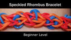Rainbow Loom® Speckled Rhombus Bracelet (+playlist)