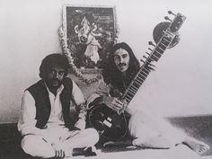 George Harrison with Deepak Chaudhari, one of Ravi Shankar's top sitar students.