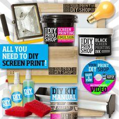 DIY Print Shop T-Shirt Kit| ScreenPrinting.com by Ryonet