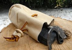 Flint and Steel Fire Making Kit with by BrownDogPouchandBag