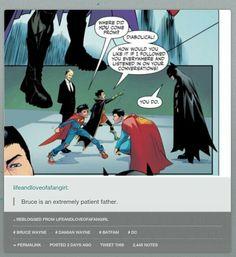 Batman and super man DC Im Batman, Batman Robin, Nightwing, Batgirl, Dc World, Bat Boys, Super Man, Def Not, Dc Memes