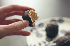 The perfect not-so-guilty treat: a recipe for one serving of peanut butter balls.