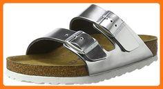 fae99a326abe Birkenstock Arizona SFB Metallic Silver Leather 37 EU   6 R US Women
