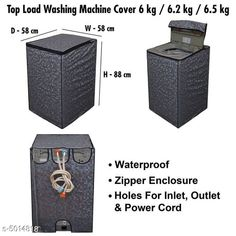 Appliance Covers Classy Printed  Fully Automatic Top Load Washing Machine Cover Material: Polyester Size(L X W X H): 58.42 cm x 58.42 cm x 88.9 cm  Description: It Has 1 Piece Of Fully Automatic Top Load Washing Machine Cover Work:  Printed Country of Origin: India Sizes Available: Free Size   Catalog Rating: ★3.9 (425)  Catalog Name: Classy Printed Fully Automatic Top Load Washing Machine Covers Vol 2 CatalogID_736340 C131-SC1624 Code: 782-5014818-336