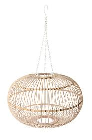 BAMBOO BULB HANGING PENDANT CEILING SHADE, LARGE