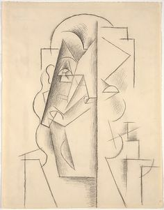 Head of a Man / Pablo Picasso / 1912 / Charcoal on paper