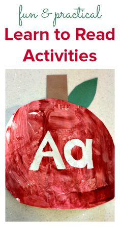 Learn to read activities for parents with kids in preschool and school, fun and practical ideas.