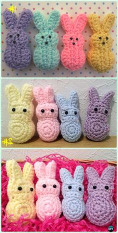 Crochet Easter Marshmallow Bunnies Free Pattern - Crochet Baby Easter Gifts Free Patterns