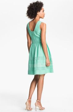 Jessica Simpson Basket Weave Fit & Flare Dress | Nordstrom