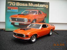 Built 1970 Ford Mustang Boss 429 1/24 1981 Monogram model kit built by Gramps…