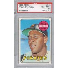 1969 Topps WILLIE STARGELL # 545 (PSA 8.5 NM-MT+) MLB Hall of Fame
