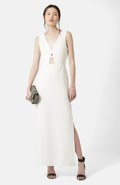 Topshop Plunge Sleeveless Maxi Dress available at #Nordstrom