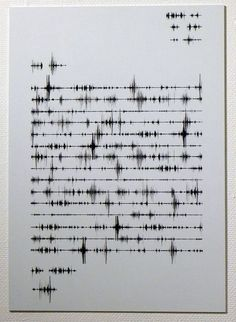 ▇ The sound of words.  Project Idea: Frequency Typography. Perhaps acompanied by audio track to play along beside poem art work