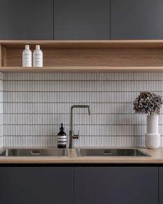 Gallery - TileCloud Kitchen Interior, Kitchen Design, Kitchen Splashback Tiles, Backsplash, Online Tile Store, Laundry Room Inspiration, Interior Desing, Japanese Kitchen, Open Plan Kitchen