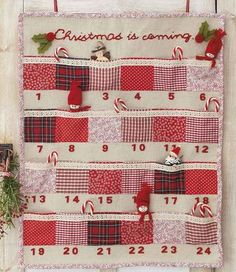 Homemade advent calendar ideas is part of Sewing crafts For Christmas - Be inspired this Christmas with our homemade advent calendar ideas to make and do over the holidays Fabric Advent Calendar, Diy Calendar, Homemade Christmas, Christmas Diy, Christmas Decorations, Christmas Tables, Nordic Christmas, Modern Christmas, Christmas Stockings