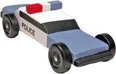 Police Car Pinewoo Derby Car Design