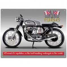 NORTON ATLAS CAFE RACER  Metal Wall Sign by Red Hot Lemon