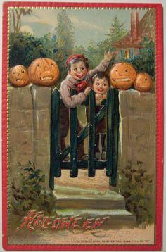 Vintage Halloween Postcard   by riptheskull