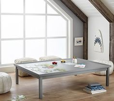 Carolina Extra Large Activity Table #pbkids **love the large table with cushion chairs.