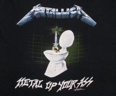Metallica Metal Up Your Ass concert t shirt from 1987. Original vintage t shirt. Used vintage in great condition with light to medium wear. -see pics.Tag- HTX Handtex Made In USA50% Cotton 50% Kodel Polyester Size- X-Large INV