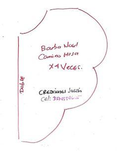 Aprende cómo hacer un hermoso camino de mesa con muñecos de santa claus ~ Haz Manualidades Felt Christmas Ornaments, Christmas Art, Christmas Projects, Christmas Decorations, Homemade Gifts, Type 3, Quilting, Facebook, Patterns