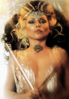Debbie Harry as King Tut, photographed by her Blondie bandmate and life partner Chris Stein, 1982