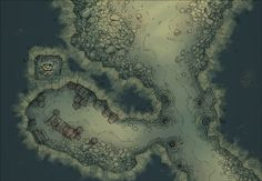 The Cavern Mouth, a battle map for D&D / Dungeons & Dragons, Pathfinder, Warhammer and other table top RPGs. Tags: cave, dungeon, mine, spooky, tunnel, underdark, underground