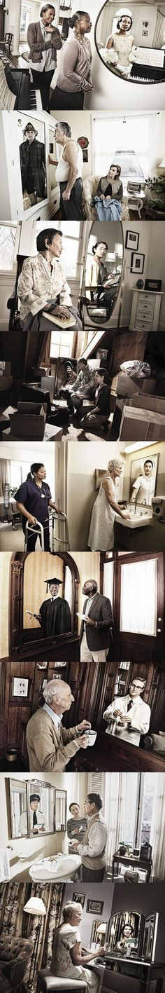 Reflections of Youth.  My patients tell me this all the time.  Pls respect and care for the elderly.