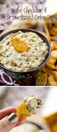 White Cheddar & Caramelized Onion Dip