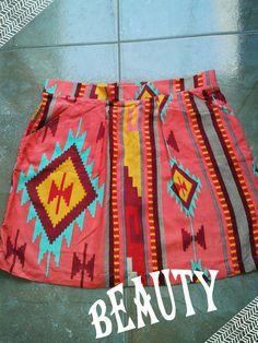 falda tribal con bolsillos  talla standar s/55.00 soles