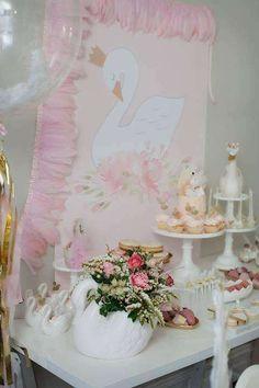 Swan theme Birthday Party Ideas | Photo 1 of 79
