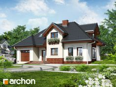 Dom w chabrach Inside Outside, Home Fashion, House Plans, Villa, New Homes, Cabin, Mansions, Architecture, House Styles